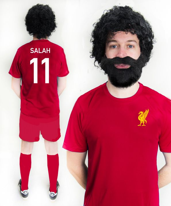newest 858ac 4a491 Mo Salah Liverpool Football Fancy Dress Costume